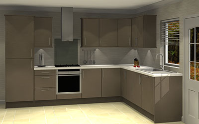 Northampton kitchens and bathrooms for Coloured kitchen units uk