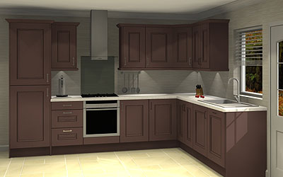 12 Unit L shape kitchen with worktops & Blanco sink pack £5,445