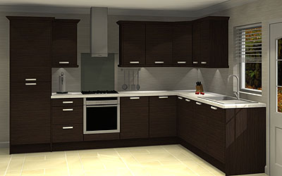 Northampton kitchens and bathrooms for Wenge kitchen designs