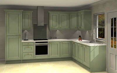 12 Unit L shape kitchen with worktops & Blanco sink pack £5,847