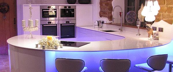 kitchen mood lighting. RGB LED Mood Lighting Under The Breakfast Bar Kitchen F