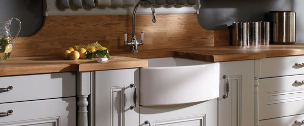 Belfast sink and pilasters